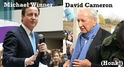 Michael Winner and David Cameron 2