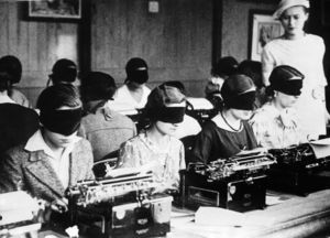 Blindfold typing