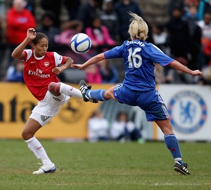 Female footballers Chelsea and Arsenal