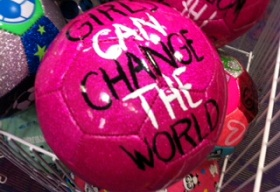 Girls can change the world football
