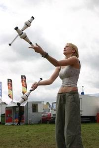 Women juggling