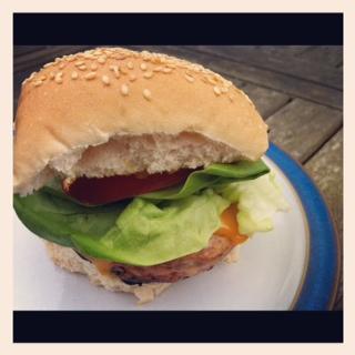 Finsihed burger